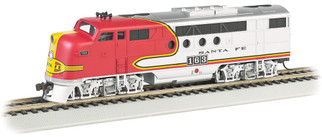 68911 HO Scale Bachmann Santa Fe (Warbonnet) EMD FT-A