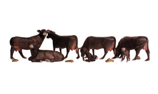 A1955 HO Woodland Scenics Black Angus Cows
