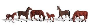 A1842 Woodland Scenics HO Chestnut Horses