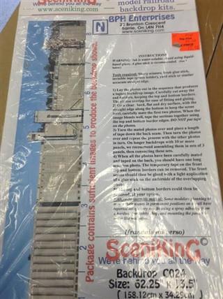 C024 N Scale SceniKing Backdrop Kit