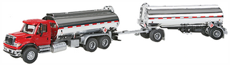 949-11670 HO Walthers SceneMaster(TM) International 7600 Tank Truck w/Trailer -Assembled