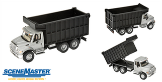 949-11677 HO Walthers SceneMaster International 7600 Dual-Axle Coal Dump Truck