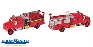949-11841 HO Walthers(R) SceneMaster International 4900 Crew Cab Fire Engine-Assembled