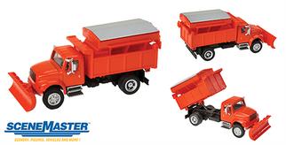949-11793 HO Walthers(R) SceneMaster International 4900 Dump w/Snow Plow & Salt Spreader -Assembled