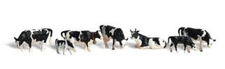 A1863 Woodland Scenics HO Holstein Cows