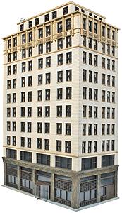 933-3764 HO Walthers Cornerstone(R)-Ashmore Hotel Kit
