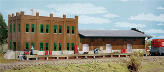 933-3009 HO Walthers Cornerstone(R) Water Street Freight Terminal Kit