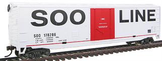 931-1671 HO Walthers TrainLine 50' RTR Plug-Door Boxcar-SOO Line
