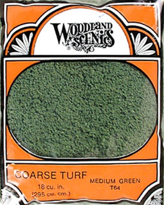 T64 Woodland Scenics Coarse Turf Medium Green 12 oz