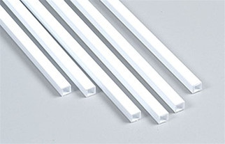 "90622 Plastruct Square Tube Styrene 3/16"" x 15"""