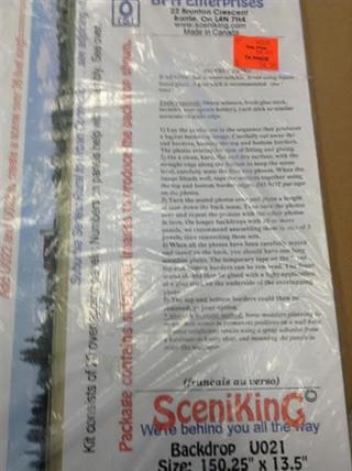 U021 O, S  Scale SceniKing Backdrop Kit