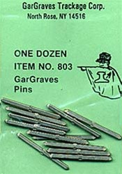 803 Gargraves O Track Pins Nickel Silver