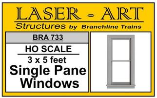 733 HO Branchline Laser-Art Single Pane Windows