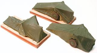 7257 HO Chooch Enterprises Covered Artillery Load