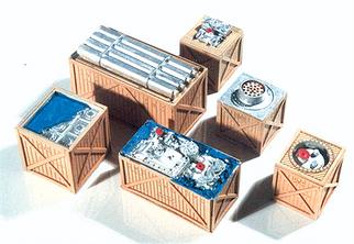 7251 HO Chooch Enterprises Open Crates/Machinery Load