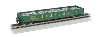 "71904 HO Bachmann 50'6"" Drop End Gondola w/Crushed Cars Load-Reading (Grn & Yel)"