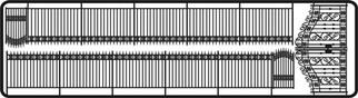 703 HO Branchline Laser Art Structures  Fence w/Large Gates for HO Model Train Layouts
