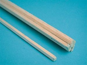"6055 Midwest Products Balsa Wood Balsa Wood 3/16"" x 3/16"" x 36"""