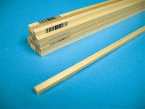 "6049 Midwest Products Balsa Wood Balsa Wood 1/8"" x 1/2"" x 36"