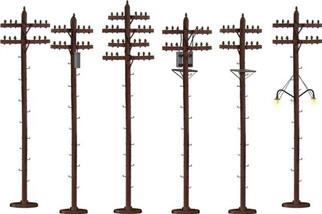 6-49872 S Lionel S-Scale Telephone Poles