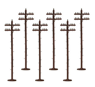 6-49086 S Scale American Flyer Telephone Poles