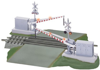 6-12062 Lionel Fastrack Grade Crossing with Gates and Flashers