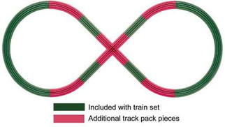 6-12030 Lionel O Fastrack Figure 8 Add-On Track Pack