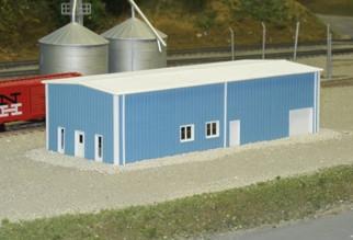 541-8003 N Scale Pikestuff Rix Products Prefab Warehouse Kit