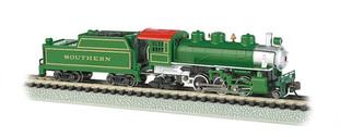51572 N Scale Bachmann Prairie 2-6-2 Steam locomotive & Tender-Southern(Green)