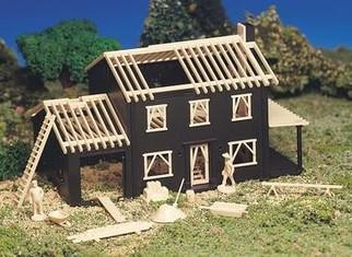 45191 HO Bachmann House Under Construction