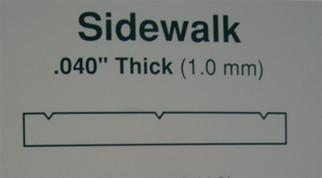 """4515 Evergreen Scale Models Sidewalk 3/16"""" Spacing"""