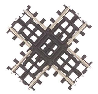 45-1005 MTH O ScaleTrax 90 Degree Crossing