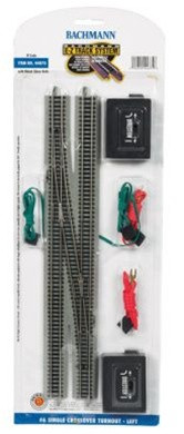 44875 Bachmann N Scale E-Z Track #6 Single Crossover Turnout - Left
