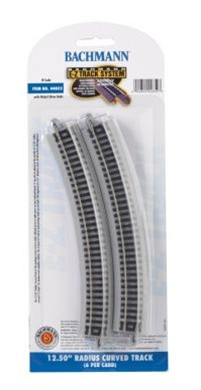 "44852 Bachmann Industries N Scale 12.50"" Radius Curved Track (6)"