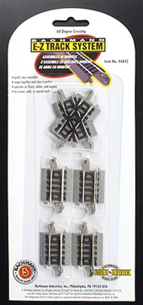 44842 Bachmann N Scale EZ Track 60 Degree Crossing