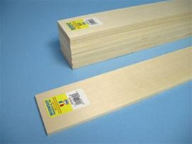 4406 Midwest Products Co. Basswood Sheets 1/4x4x24