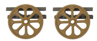 433-1513 Life-Like Products HO SceneMaster Flat Car Load Large Gears