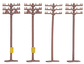 42506 Bachmann N Scale Telephone Poles (12)