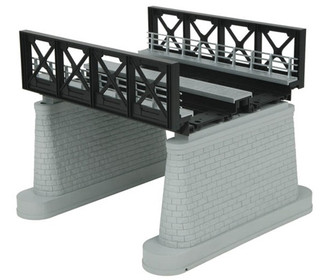 40-1112 MTH O Black  2-Track Bridge Girder