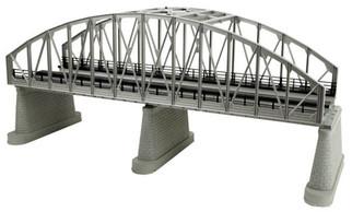 40-1107 O MTH RailKing 2-Track Steel Arch Bridge-Silver