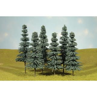 """32012  Bachmann 5""""-6"""" Blue Spruce Trees"""