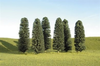 "32005 Bachmann HO 5"" - 6"" Cedar Trees (six pieces per pack)"