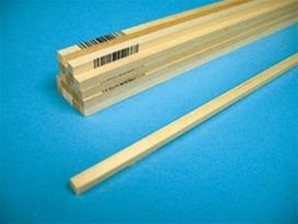4066 Midwest Products Co. Basswood Strips 1/4x1/4x24