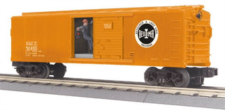 30-79377 O MTH RailKing Operating Boxcar w/Signal Man-Bessemer & Lake Erie