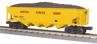 30-75531 O Scale MTH RailKing 4-Bay Hopper Car-US Army