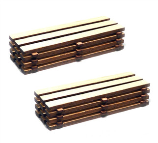 39107 HO Scale Bachmann Timber Loads-Kit (2 Per Pack)