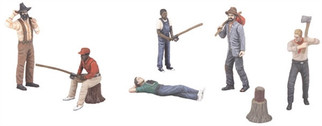 30-11057 O Scale MTH RailKing 6-Piece Figure Set #2 Outdoor People