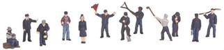 30-11055 O Scale MTH RailKing 12-Piece Figure Set#3-Railroad Employees