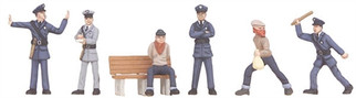 30-11056 O Scale MTH RailKing 6-Piece Figure Set #5-Cops & Robbers