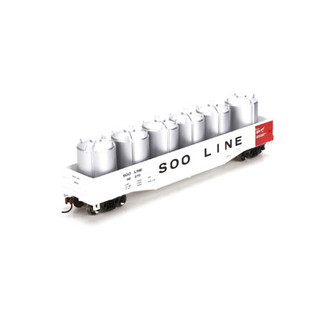 29342 HO Scale Athearn RTR 50' Gondola w/Canisters Load-SOO Line #68263